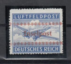 G3320-GERMANY-REICH-INSELPOST-MI-7B-MINT-MNH-CERTIFICATE-CV-3300