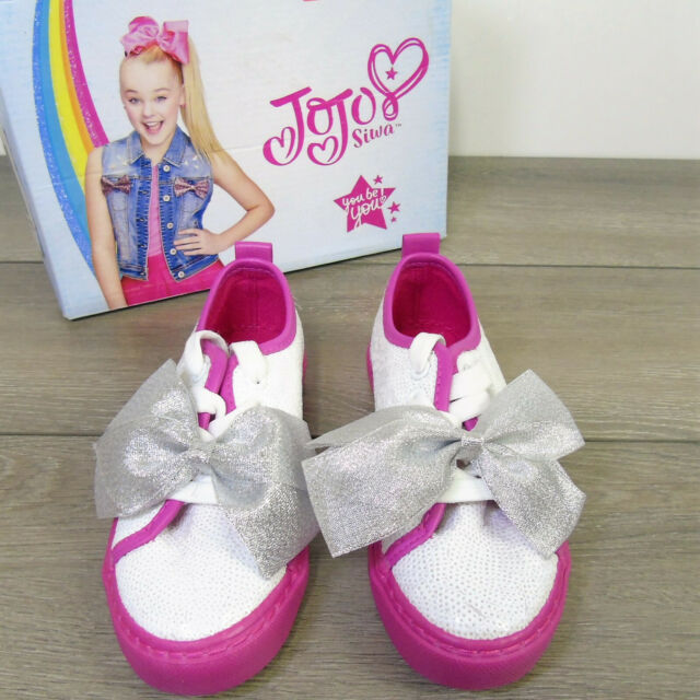 SHOES Sequin \u0026 Bow White Pink Girls