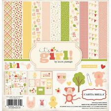 Carta Bella ~ IT'S A GIRL ~ 12x12 Collection Kit ~ Baby