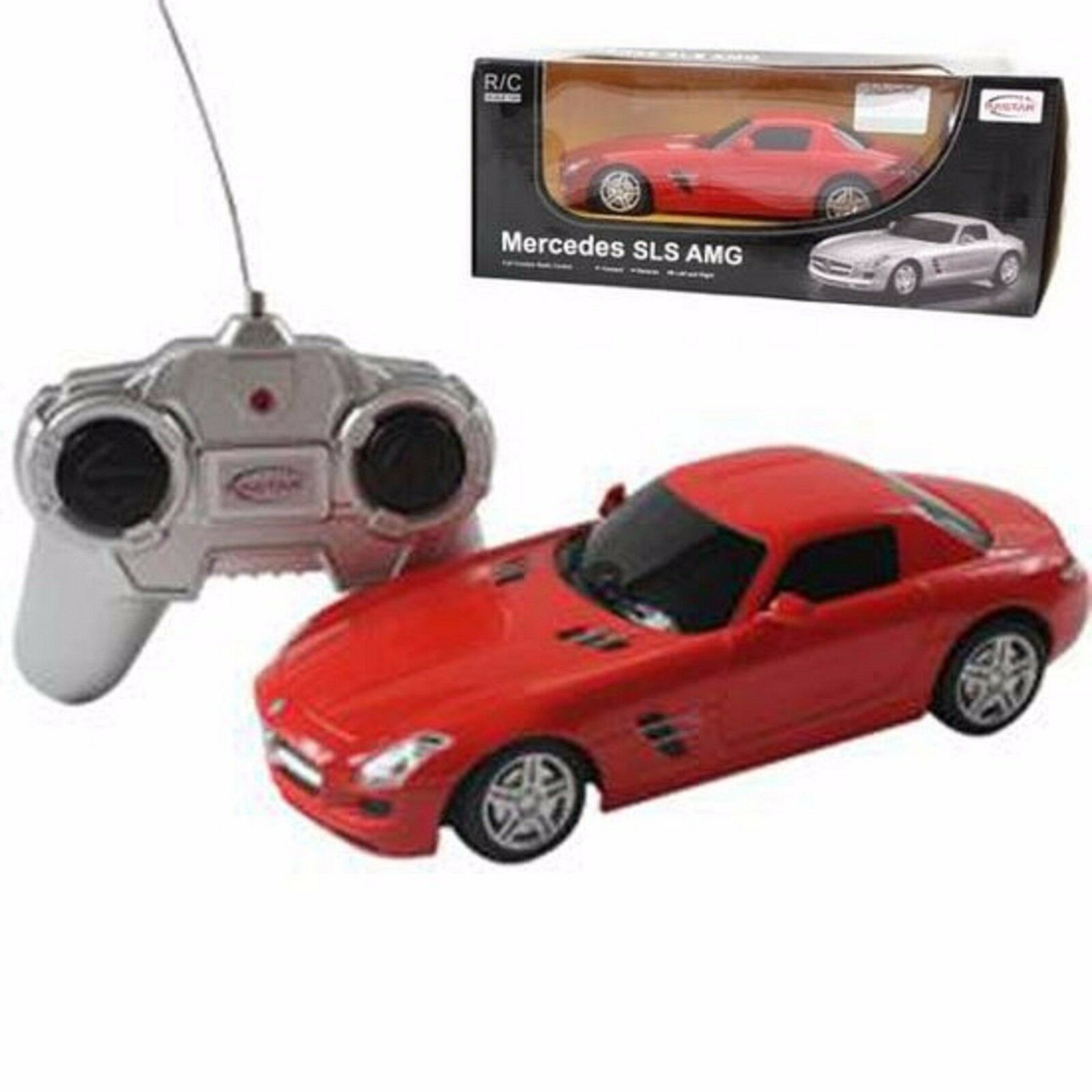 Radio Remote Control Car Rastar 1 24 Scale Mercedes SLS RC IR Ages 6+ Toy Play