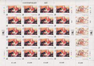 Guernsey-Mi-No-608-611-4x-Sheetlet-Set-Mint-MNH