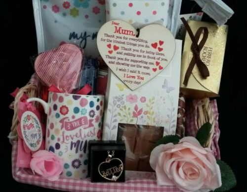 Mothers Day gift Hamper with Fudge//Necklace//Flower// Christmas// OUT OF STOCK.