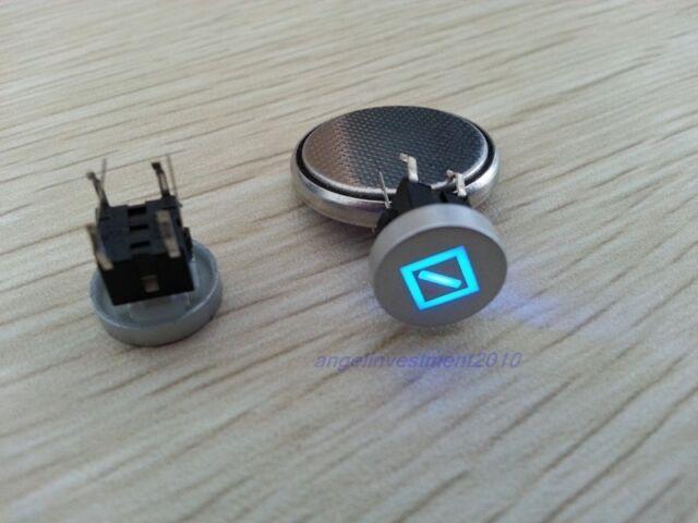 5pcs Blue Led Dia 10mm Cap symbol 12V Momentary Tact Push Button Switch