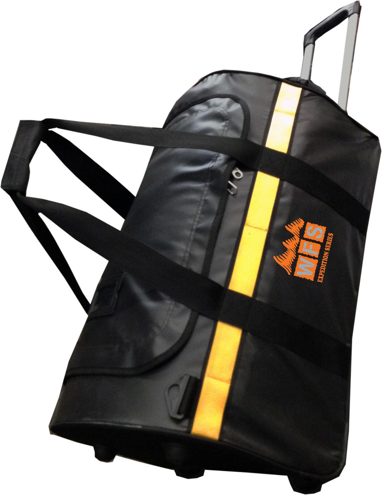 BRAND NEW  WFS 24  TARPAULIN WHEELIE DUFFEL BAG