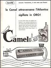 SIGARETTE CAMEL AMERICANE BOTTIGLIA CONFEZIONE ORO ATLANTICO REYNOLDS 1957