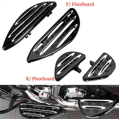 Driver Front Cut Stretched Floorboards Footboard Footrest For Harley Touring CNC
