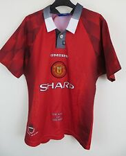 Kids Umbro 90s Manchester United Football Shirt MUFC Soccer Jersey L Boys LB