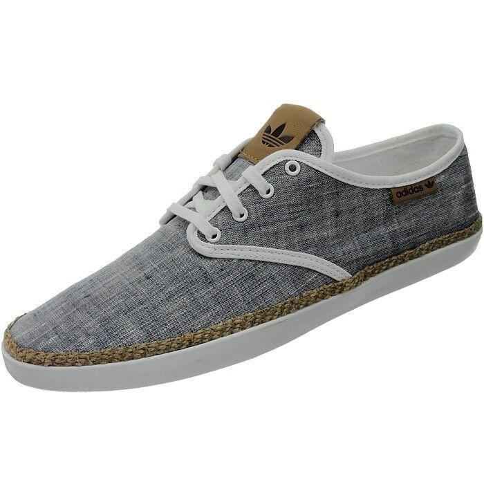100% Vrai Adidas Adria Femmes Chaussures De Loisirs Bleu/blanc Plimsolls Sneaker Neuf Techniques Modernes