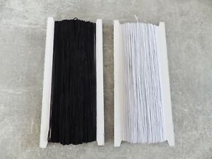 JOB-LOT-1mm-x-Round-Cord-Elastic-Beading-Crafts-Sewing-White-or-Black-800-yds