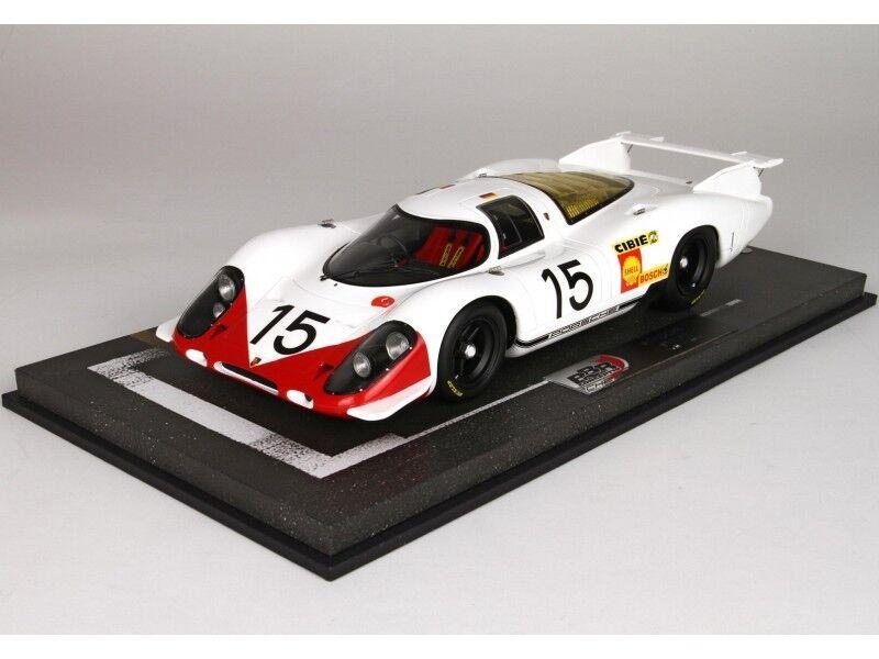 BBR Models 1 18 Porsche 917 69 N.15 24H Le Mans 1969 Modellino