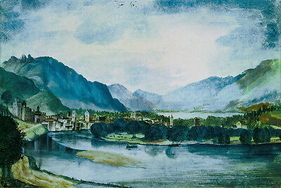 Albrecht Durer View of Trento canvas print giclee 8X12 & 12X17 reproduction