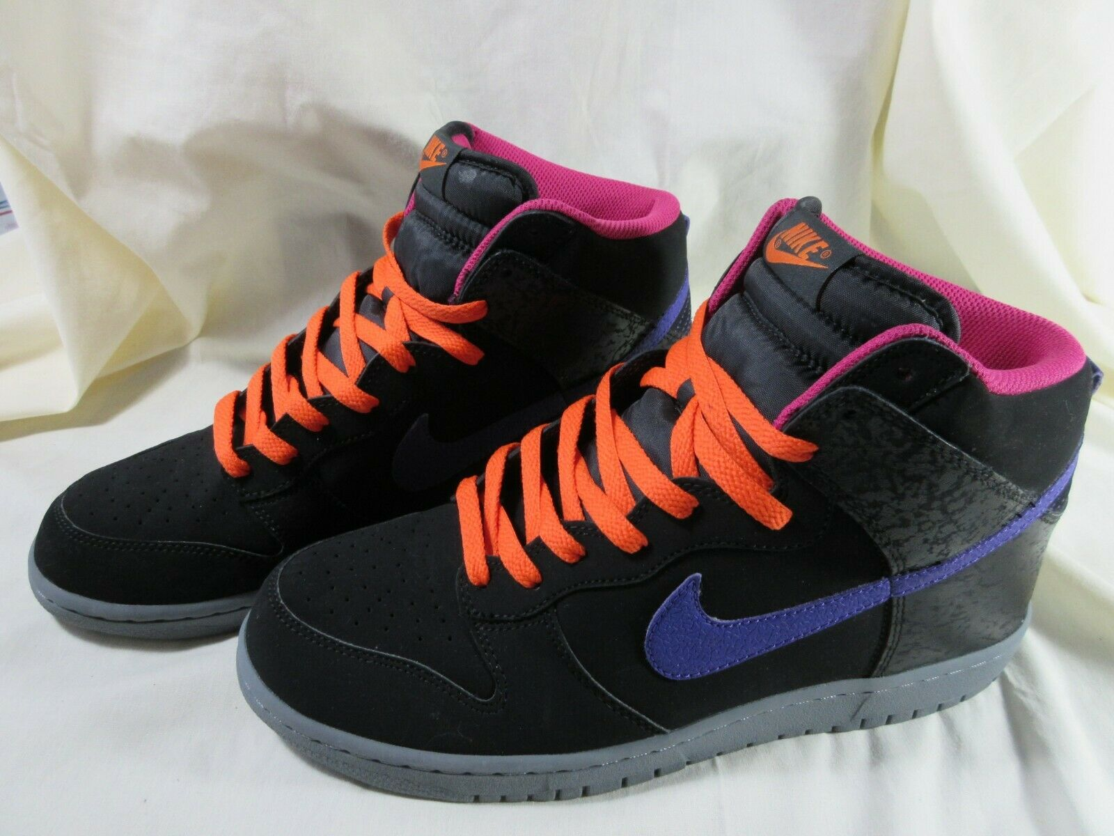 Nike Nike Nike Dunk High Black  Court Purple   Electric orange  317982 053 Men's 11 M e32478