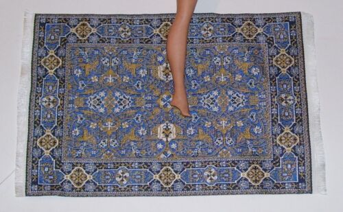 FASHION DOLL OR DOLLHOUSE AREA RUG CARPET WOVEN ABOUT 9 /& 1//2 x 6 INCH NEW #15