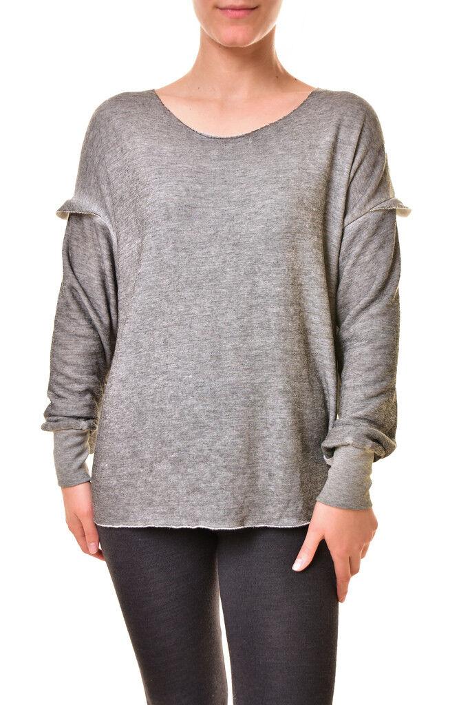 Wildfox Women's Adri Ruffle Sleeve Super Soft Sweatshirt Grey S RRP  BCF810