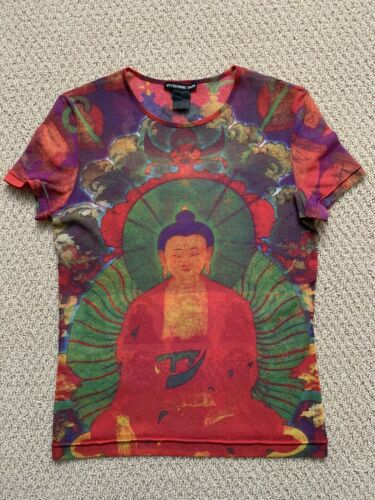 Vintage VIVIENNE TAM mesh short sleeve BUDDHA top