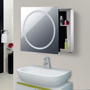 "28"" LED Wall Mounted Sliding Bathroom Mirror Medical ..."