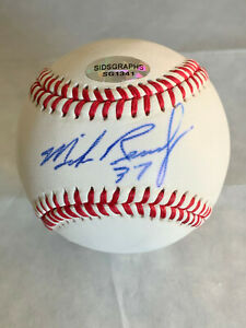 Mike Remlinger Chicago Cubs signed official ML Baseball w/SidsGraphs COA