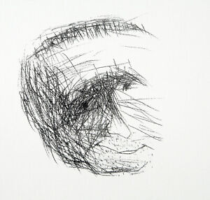 """Bertolt Brecht"" 1970 kreidelithogr. Gustav Seitz (1906-1969 D) SCONTO-TIMBRO"