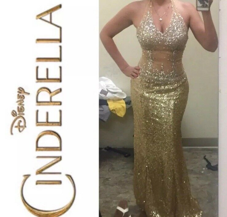 Cinderella Cinderella Cinderella Illusion Mesh Sequin Dress 22fc10