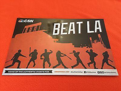 Cheer Card San Francisco Sf Giants Authentic Fan Beat La