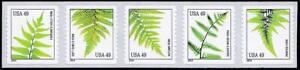 USA-2014-FERNS-strip-of-5-SC-4852-MNH