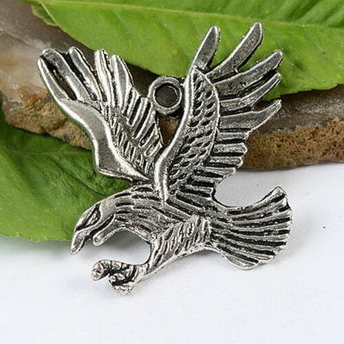 12pcs Tibetan silver color flying eagle charms h1424