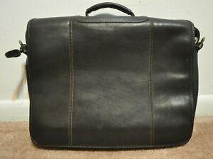 Mori Chocolate Brown Messenger Briefcase Shoulder Business Professional Bag Euc Ebay