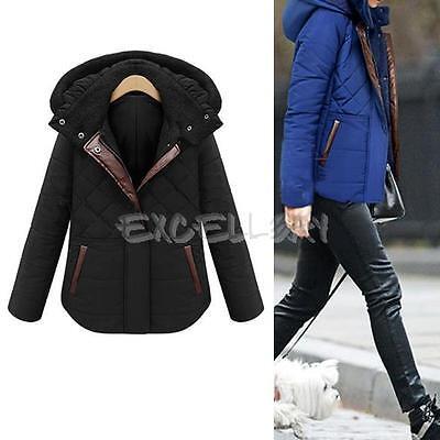 Women Winter Parka Warm Hooded Coat Thicken Padded Slim Jacket Outwear Overcoat