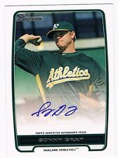 SONNY GRAY 2012 Bowman Autograph Auto Ball Baseball Rookie Signed RC Card A's