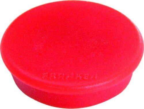 10x Franken Haftmagnet Magnet 24mm Farbe rot Magnet rund Haftkraft 300g NEU/&OVP