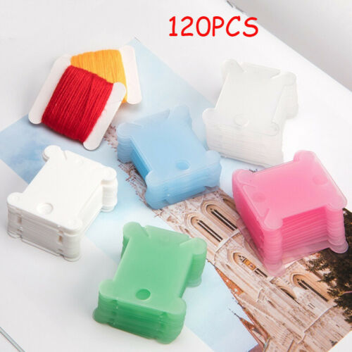 Plastic Floss Bobbins Thread Board Cards For Craft DIY Embroidery Sewing Storage