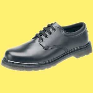 Delta-Plus-Black-Leather-Air-Cushion-Sole-Derby-Work-Safety-Shoes-Steel-Toe-Cap