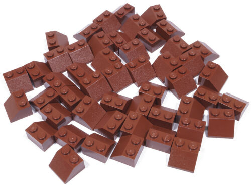 50 x Dachstein 45 Grad 2x2 braun LEGO 3039 NEUWARE Reddish Brown Slope