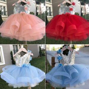 11755c46f21d1 Enfants-filles-belle-Sequin-fleur-mariage-fete. Enfants filles belle Sequin  fleur mariage fête princesse robe sans .