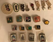 LOT OF 21: USSR CCCP RUSSIAN OLYMPIC PINS SET SUMMER GAMES MOSCOW 1980