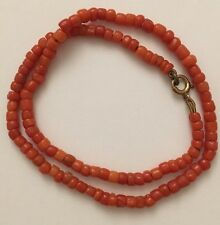 Antique Victorian Coral Beaded Pretty Necklace Choker