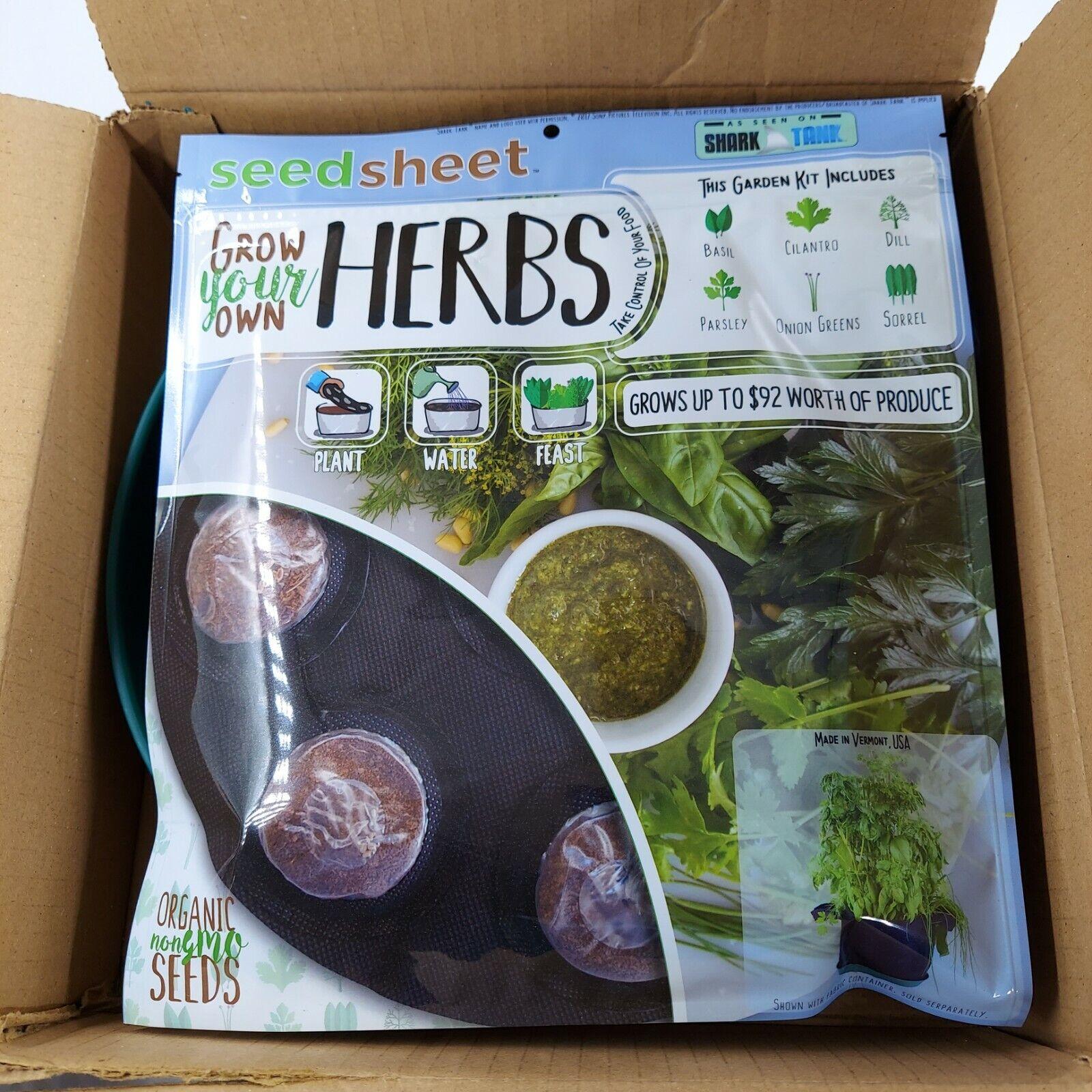 Grow Your Own Herbs Partial Kit Fast Growing Organic NonGMO Recipe Garden kit