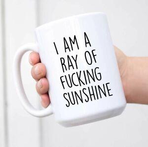 Funny Mug I Am A Ray Of F'cking Sunshine Ceramic White Coffee Mug Gift Mug
