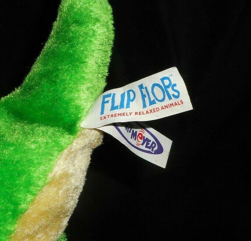 MARY MEYER FLIP FLOPS 2002 verde verde verde DINOSAUR DINO STUFFED ANIMAL PLUSH TOY FLOPPY 8250d8