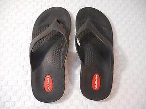 1df540a2420 Image is loading Okabashi-sandals-men-Large-rubber-black-thong-flip-