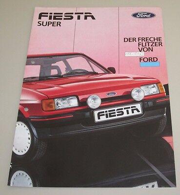 Auto Prospekt Katalog Ford Fiesta Super Der Freche Flitzer Von Ford August 1986!