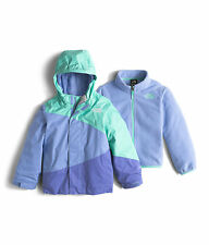 NWT North Face Toddler Girls Mountain View Triclimate Ice Blue Jacket Sz 3T $130