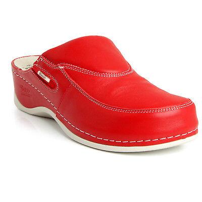 BATZ FC10 Handmade Leather Womens Ladies Slip-on Clogs Mules