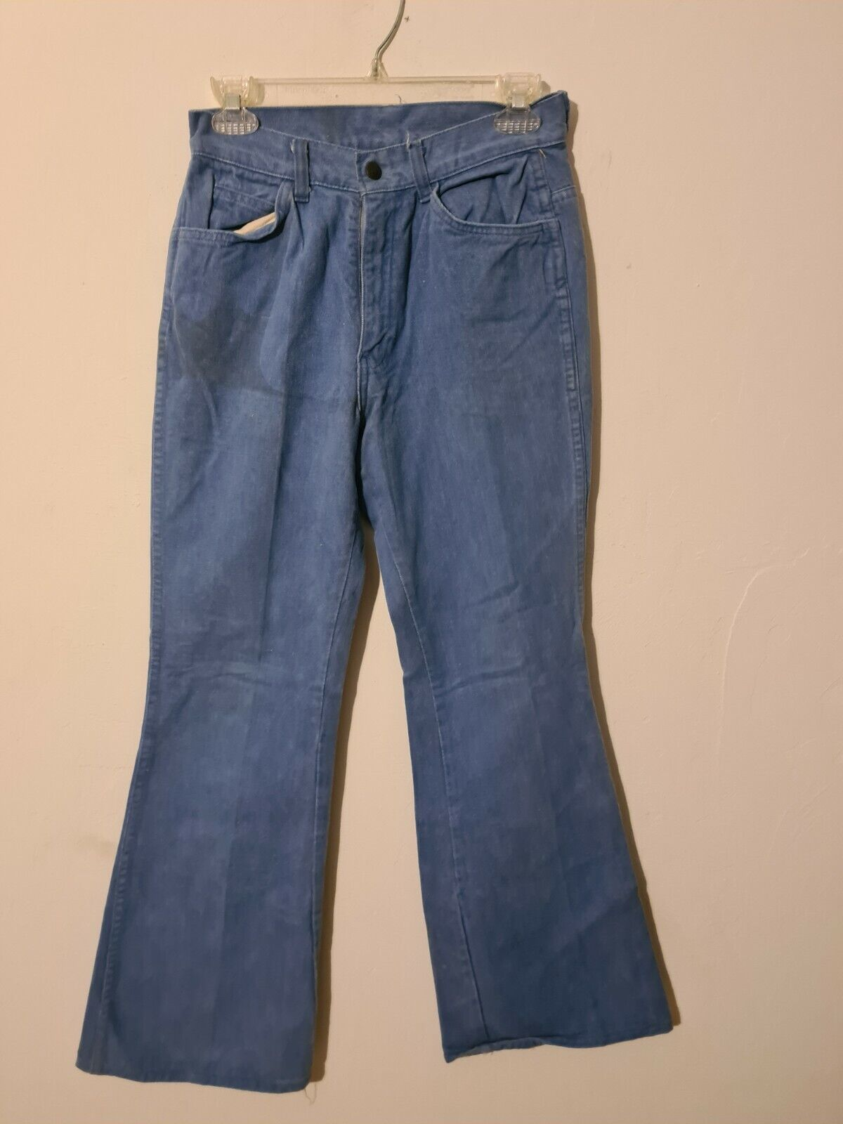 vintage  womens levis bell bottom big E pants  - image 1