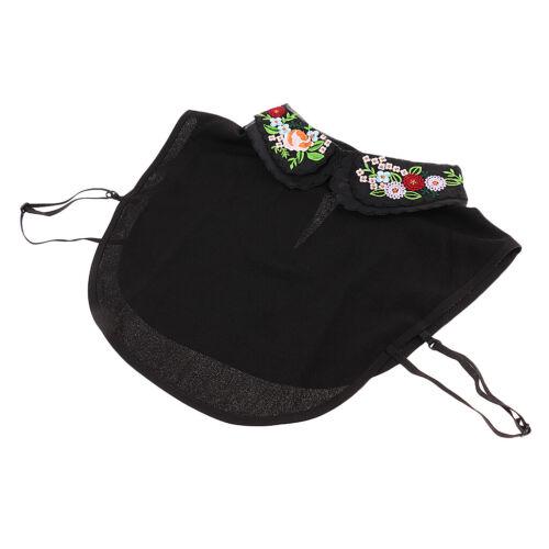 Women False Collar Detachable Lapel Half Shirt Blouse Bib Choker Necklace Cotton