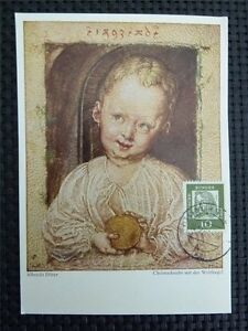 AgréAble Rfa Mk 1961 350 X Albrecht Dürer Carte Maximum Maxi Card Mc Cm Art C4638 MatéRiaux Soigneusement SéLectionnéS