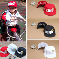 Children Kids Boys Girls Baby King Letter Crown Sport Baseball Cap Snapback