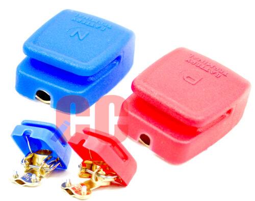 Liberación rápida batería terminales Heavy Duty Cubre Plástico latón Snap-on Abrazadera