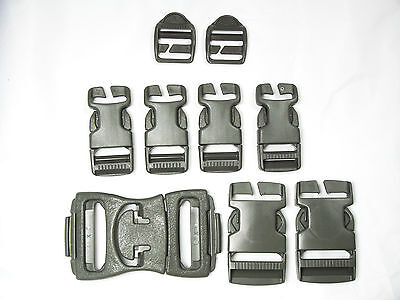 USA Buckle Set 9 Piece Repair Molle Bag Backpack Straps Clip Peplacement