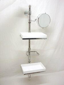 26216 soporte estanteria estante baldas espejo jabonera para ba o ebay - Baldas para bano ...